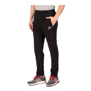 Fitinc N S Polycotton Dryfit Casual Trackpant with Both Side Safety Zipper Pocket  Black Medium