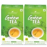 Neuherbs Green Tea 25 Tea Bag s  Lemon Pack of 2