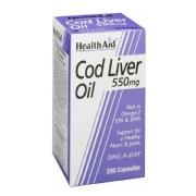HealthAid Cod Liver Oil,  250 capsules