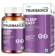 TrueBasics Sleep Easy with Melatonin Suntheanine Valerian Root L Tryptophan  30 capsules