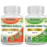 Morpheme Remedies Garcinia Cambogia Green Tea + Triphala Guggul,  120 Capsules