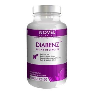 Novel Nutrients Diabenz (450mg),  60 capsules