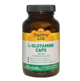 Country Life L-Glutamine (500mg),  100 Capsules