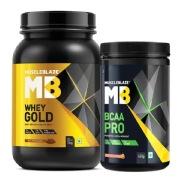 MuscleBlaze BCAA Pro   Whey Gold Protein Combo