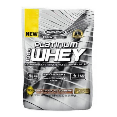 MuscleTech Essential Platinum 100% Whey,  10 lb  Chocolate
