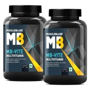 MuscleBlaze MB VITE Multivitamin Unflavoured 120 tablet s    Pack of 2