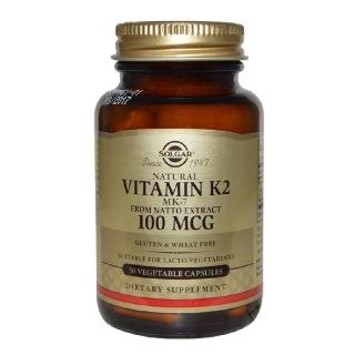 Solgar Natural Vitamin K2 (100mcg),  Unflavoured  50 veggie capsule(s)