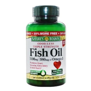 Nature 39 s bounty odorless triple strength fish oil 1400mg for Odorless fish oil