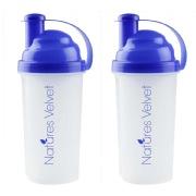 Natures Velvet Shaker, White   Blue 600 ml