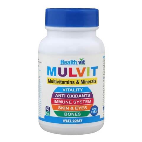 Healthvit Mulvit Multivitamins & Minerals,  Unflavoured  60 tablet(s)