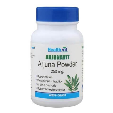 Healthvit Arjunavit Arjuna Powder (250mg),  60 capsules