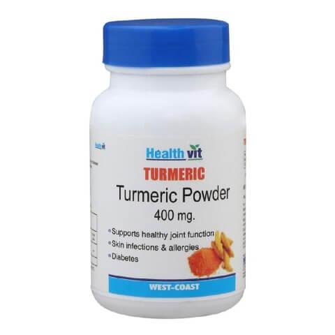Healthvit Turmeric powder (400mg),  60 capsules