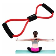 Strauss Yoga Soft Chest Expander  Red and Black Free Size
