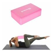 Strauss Yoga Block, Pink 23x15x7 cm