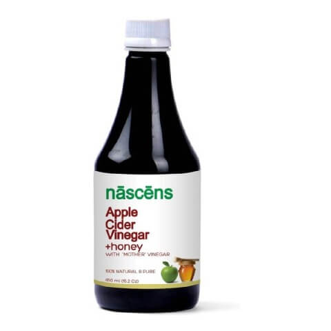 Nascens Apple Cider Vinegar + Honey,  0.45 L  Unflavoured