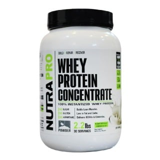 NutraPro Whey Protein Concentrate,  2.2 lb  Unflavoured