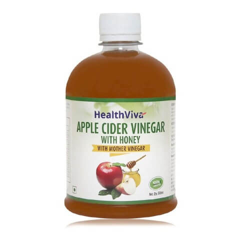 HealthViva Apple Cider Vinegar with Honey,  0.5 L  Unflavoured