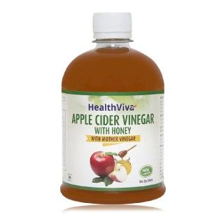 HealthViva Apple Cider Vinegar with Honey,  0.5 L  Unflavoured