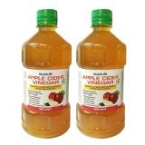 Healthvit Apple Cider Vinegar (Pack Of 2),  500 Ml  Unflavoured