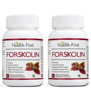 Health first Forskolin (Pack of 2),  60 veggie capsule(s)  Unflavoured