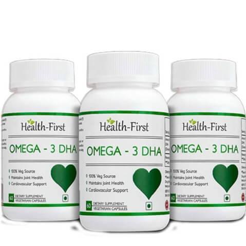 Health first Omega 3 DHA  Pack of 3 ,  60 veggie capsule s