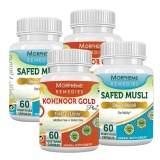 Morpheme Remedies Kohinoor Gold Plus & Safed Musli (Pack Of 4),  60 Capsules
