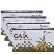 GAIA Green Tea Elachi   Pack of 4