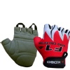 KOBO Weight Lifting Gloves (CG-01),  Red & White  Medium