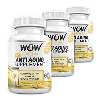 WOW Anti Aging Supplement (Pack of 3),  60 capsules