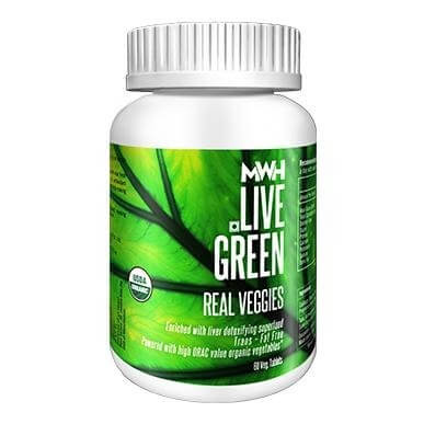 MWH Live Green Real Veggies,  60 tablet(s)