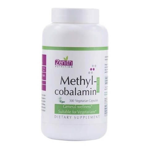 Zenith Nutrition Methylcobalamin,  Unflavoured  300 veggie capsule(s)