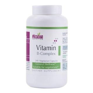 Zenith Nutrition Vitamin B-Complex,  Unflavoured  240 veggie capsule(s)