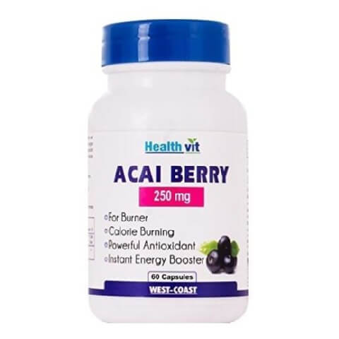 Healthvit Acai Berry (250 mg),  60 capsules  Unflavoured
