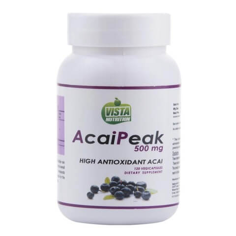 Vista Nutrition Acai Peak (500 mg),  120 capsules  Unflavoured