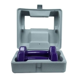 B Fit USA Vinyl Dumbbell With ABS Box (AB16034-ABS),  Purple  2 kg