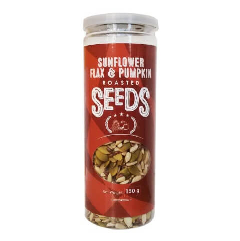 True Elements Roasted Sunflower,Pumpkin and Flax,  Unflavoured  150 g