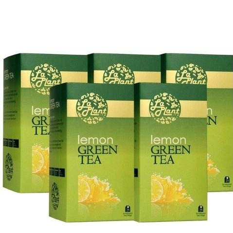 Laplant Green Tea & Lemon, 25 Piece(s)/Pack Lemon - Pack of 5