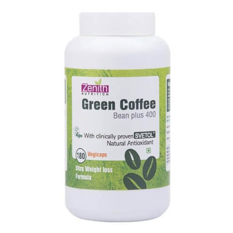 Zenith Nutrition Green Coffee Bean Plus (400 mg),  180 capsules