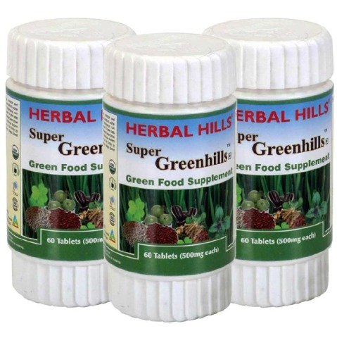 Herbal Hills Super Greenhills,  60 tablet(s)  - Pack of 3