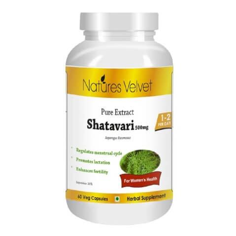 Natures Velvet Shatavari Pure Extract (500 mg),  60 veggie capsule(s)