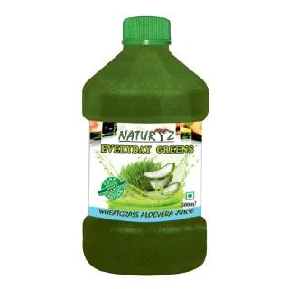 Naturyz Wheatgrass Aloevera Juice,  0.500 L