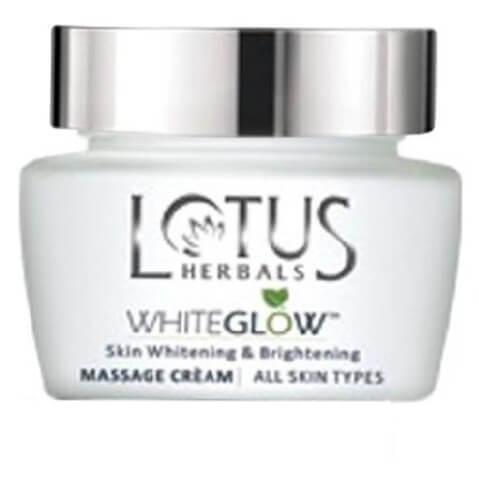 Lotus Herbals Whiteglow Massage Cream,  60 g  Whitening & Brightening