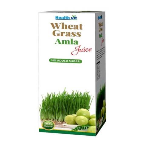 Healthvit Wheat Grass Amla Juice,  Natural  0.500 L