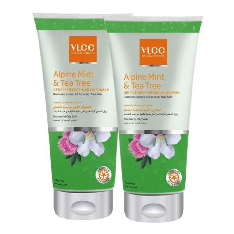 VLCC Gentle Refreshing Face Wash - Pack of 2, 175 ml Alpine Mint & Tea Tree