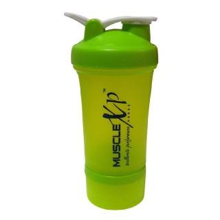 MuscleXP Advanced Stak Protein Shaker,  Design 3 Neon Green  500 ml