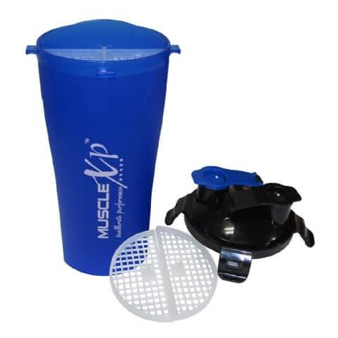MuscleXP Pre & Post Workout Shaker Bottle,  Blue & Black  500 ml