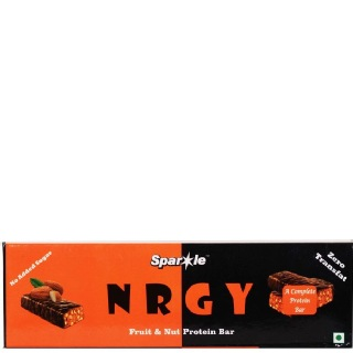 Sparkle NRGY Fruit & Nut Protein Bar,  15 Piece(s)/Pack  Unflavoured