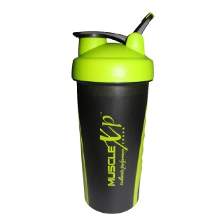 MuscleXP Sporty Gym Shaker,  Design 12 Neon Green and Black  600 ml