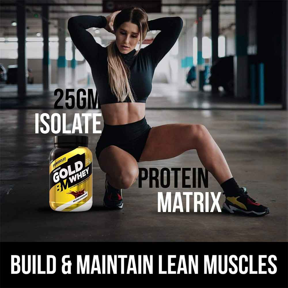 6 - Big Muscles Premium Gold Whey,  2.2 lb  Peanut Butter Cookie