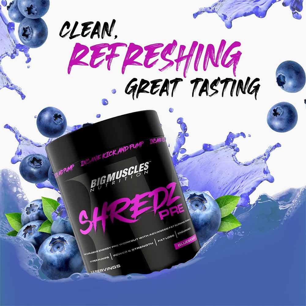 2 - Big Muscles Shredz Pre Preworkout,  0.16 lb  Blueberry